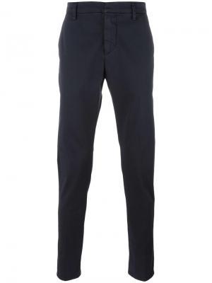Сужающиеся брюки Dondup. Цвет: синий