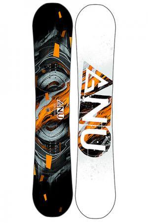 Сноуборд  Asym Ccredit Orange Ast GNU. Цвет: белый,черный,оранжевый