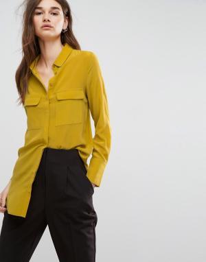 Gestuz Шелковая рубашка Vega. Цвет: желтый