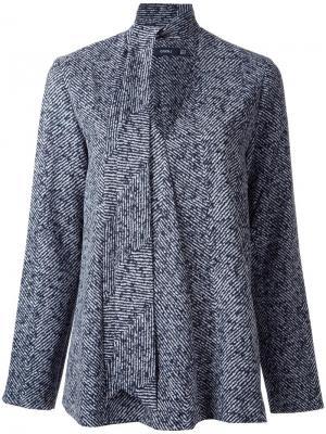 Блузка с завязками на горловине Goen.J. Цвет: серый