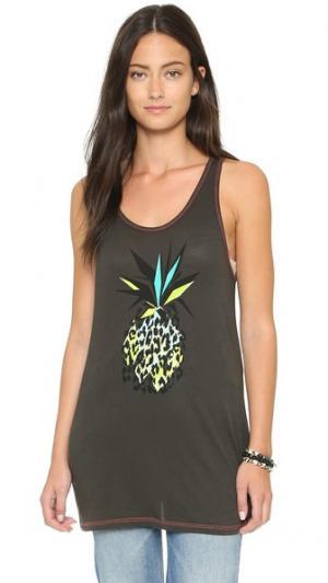 Майка Pineapple Surf Bazaar. Цвет: серый