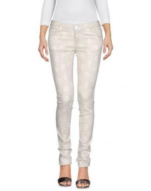 Джинсовые брюки GIRL by BAND OF OUTSIDERS. Цвет: светло-серый
