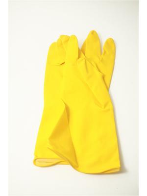 Перчатки хозяйственные размер L Vetta. Цвет: желтый
