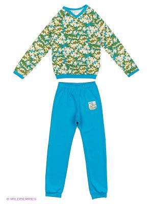 Пижама SMIL. Цвет: голубой, бирюзовый
