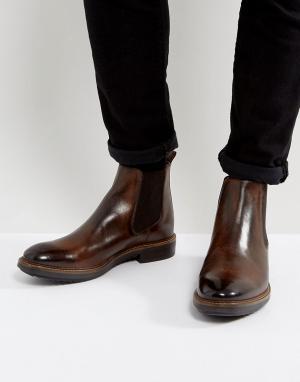 Base London Кожаные ботинки челси Dalton. Цвет: коричневый