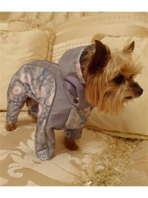 Дождевик для собак (унисекс) LUCKY DOG. Цвет: серый, белый