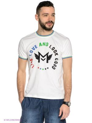 Футболка Mavango. Цвет: белый
