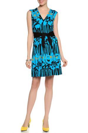 Платье Plenty by Tracy Reese. Цвет: синий, черный, желтый