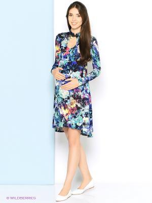 Платье Trendy Tummy. Цвет: зеленый, голубой, фиолетовый, черный