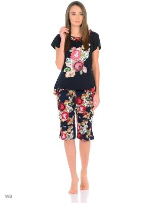 Пижама NAGOTEX. Цвет: черный, красный