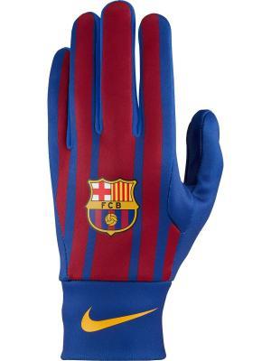 Перчатки FCB NK STADIUM GLOVE HOME Nike. Цвет: синий, красный