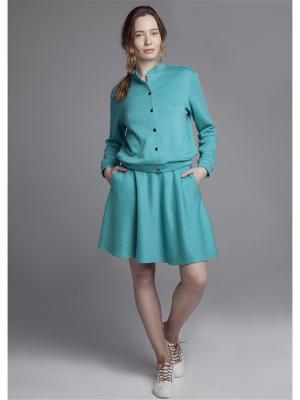 Куртка ЛитанияMIR. Цвет: бирюзовый