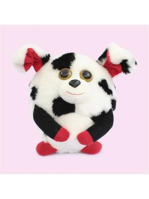 Мягкая игрушка шарик Собачка, Malvina. Цвет: белый, черный