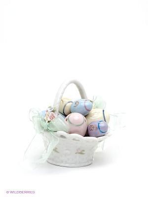 Музыкальная композиция Пасхальная корзинка Pavone. Цвет: молочный, розовый, желтый, голубой, сиреневый