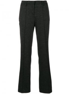 Панельные брюки с полосками Cambio. Цвет: серый