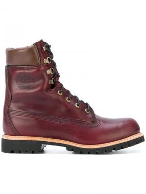 Ботинки Vibram на шнуровке Timberland. Цвет: розовый и фиолетовый