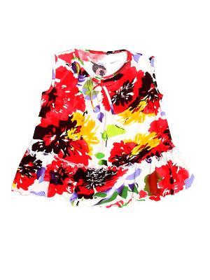 Блуза PETITE MARI. Цвет: белый, красный