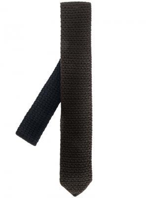 Трикотажный галстук Ermenegildo Zegna. Цвет: коричневый