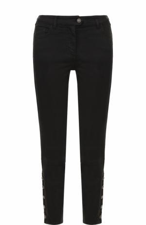 Укороченные брюки-скинни Belstaff. Цвет: черный