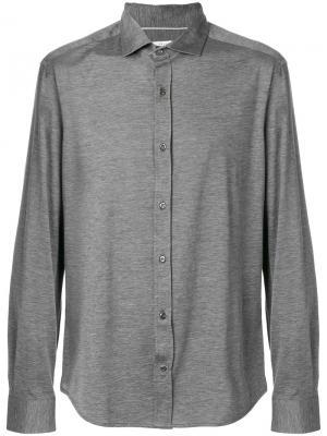 Рубашка с длинными рукавами Brunello Cucinelli. Цвет: серый