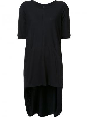 Асимметричная длинная футболка Barbara I Gongini. Цвет: чёрный