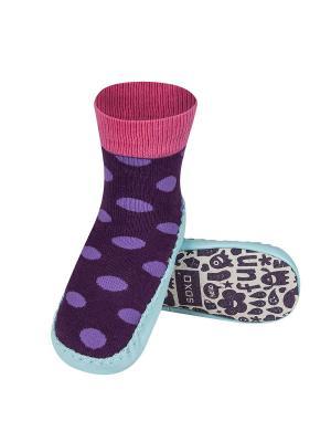 Тапочки-носочки детские SOXO. Цвет: голубой, фиолетовый, розовый