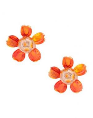 Серьги LA HORMIGA. Цвет: оранжевый