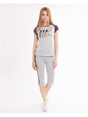 Комплект одежды: футболка, бриджи Mark Formelle. Цвет: серый, светло-серый