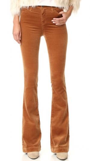Расклешенные брюки Janis с высокой посадкой AG. Цвет: коричневая ириска