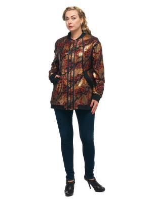 Куртка OLSI. Цвет: черный, красный, оранжевый