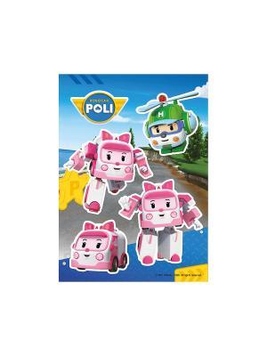 Робокар Поли: Эмбер и Хели DECORETTO. Цвет: зеленый, розовый, синий