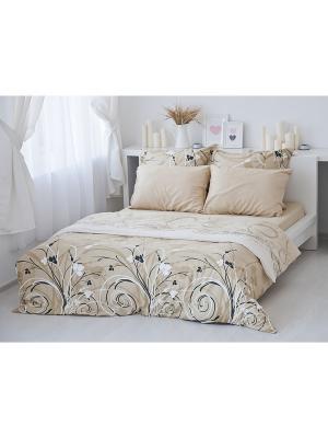 Комплект постельного белья Сон Тет-а-Тет. Цвет: коричневый