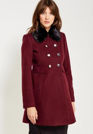 Пальто Dorothy Perkins. Цвет: бордовый