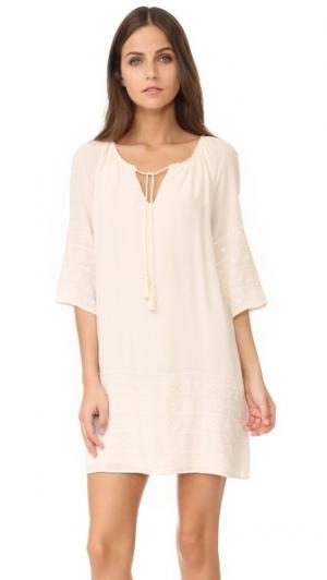 Платье с вышивкой Kam BB Dakota. Цвет: золотой