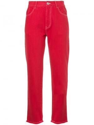 Классические джинсы Quartz Vale. Цвет: красный
