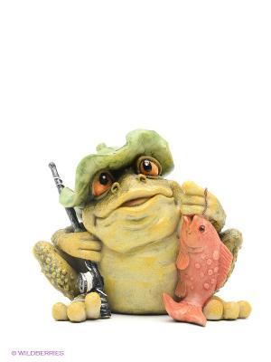 Сувенир Лягушка Sealmark. Цвет: зеленый, красный