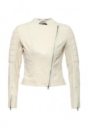 Куртка кожаная Apart. Цвет: белый