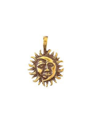 Амулет защитный Солнце и Луна Aztek. Цвет: желтый