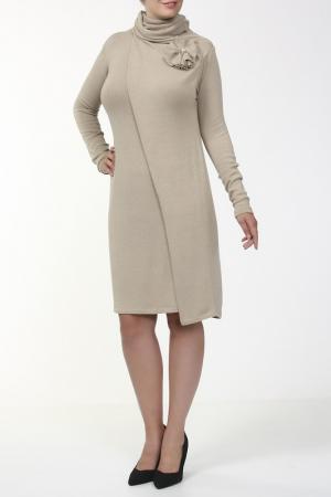 Платье, брошь Pietro Brunelli. Цвет: мультицвет