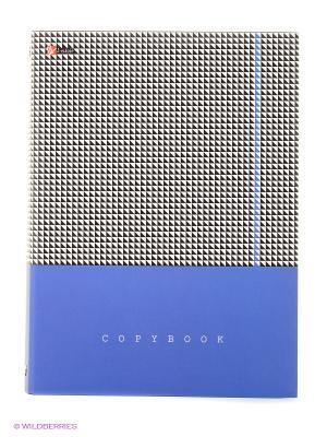Контрастный орнамент ТЕТРАДИ НА КОЛЬЦАХ СО СМЕННЫМИ БЛОКАМИ Канц-Эксмо. Цвет: синий