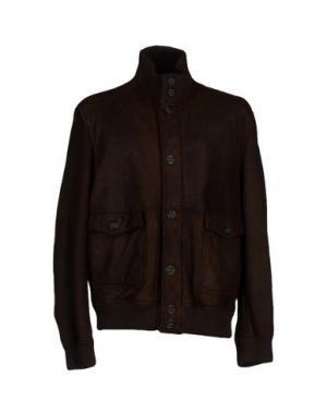 Куртка COMPAGNIA DELLE PELLI. Цвет: темно-коричневый