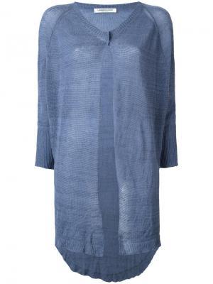 Buttoned mid cardigan Lamberto Losani. Цвет: синий