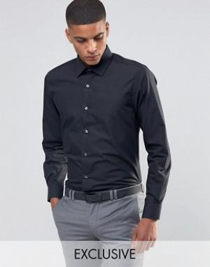 Number Eight Savile Row Зауженная рубашка в строгом стиле. Цвет: черный