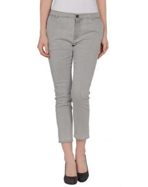 Джинсовые брюки-капри SUPERFINE. Цвет: серый