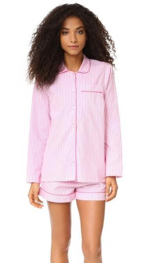 Пижама Phoebe Three J NYC. Цвет: розовая меланжевая полоска
