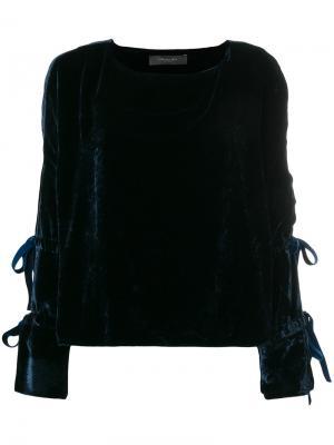 Топ с завязками на рукавах Federica Tosi. Цвет: синий