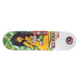 Дека для скейтборда  Su5 Merlino Strip Poker Green/Grey 32.25 x 8.25 (21 см) Foundation. Цвет: мультиколор