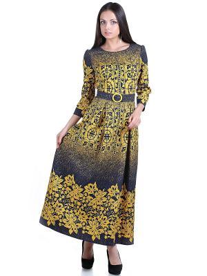 Платье OLIVEGREY. Цвет: желтый, темно-синий