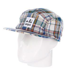 Бейсболка пятипанелька  Plamper Hat Multi Enjoi. Цвет: белый,зеленый,синий