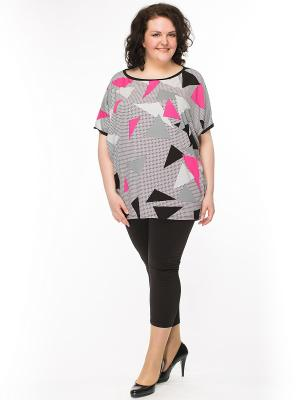 Блузка Pretty Woman. Цвет: черный, розовый, серый